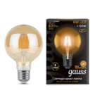 Лампа Gauss LED Filament G95